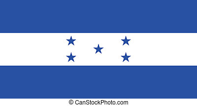 Vector illustration of the flag of Honduras