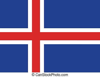 Vector illustration of the flag of Iceland