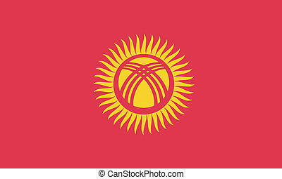 Vector illustration of the flag of  Kyrgyzstan