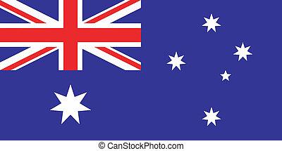Vector illustration of the flag of  Australia