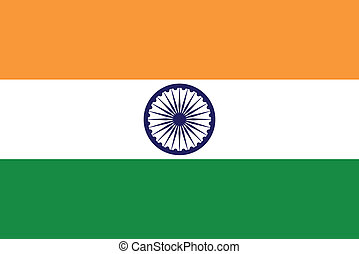 Vector illustration of the flag of India