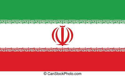 Vector illustration of the flag of Iran
