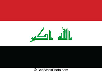 Vector illustration of the flag of Iraq