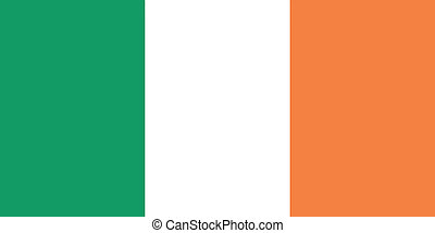 Vector illustration of the flag of Ireland
