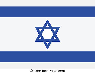 Vector illustration of the flag of Israel