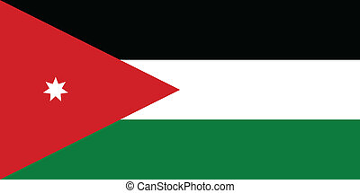 Vector illustration of the flag of Jordan