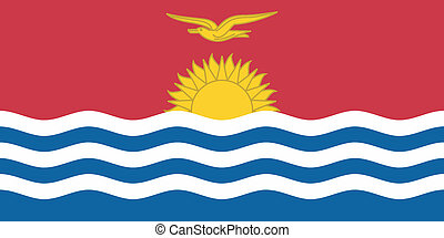 Vector illustration of the flag of Kiribati