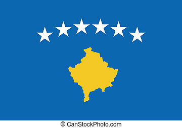 Vector illustration of the flag of  Kosovo
