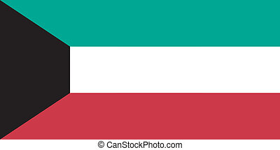 Vector illustration of the flag of Kuwait