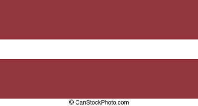 Vector illustration of the flag of  Latvia