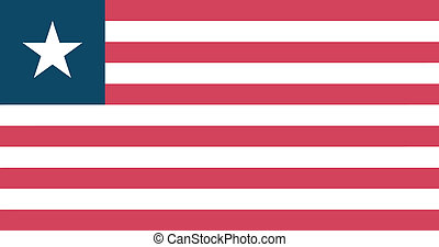 Vector illustration of the flag of Liberia