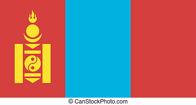 Vector illustration of the flag of Mongolia
