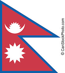 Vector illustration of the flag of Nepal