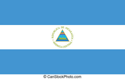 Vector illustration of the flag of  Nicaragua