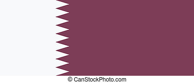 Vector illustration of the flag of  Qatar