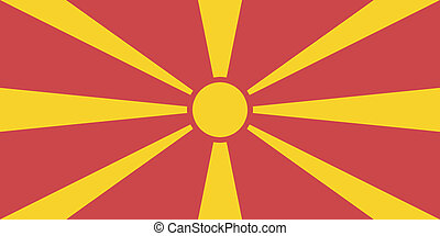 Vector illustration of the flag of Republic of Macedonia