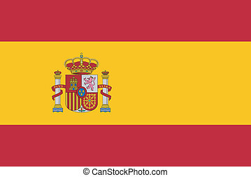 Vector illustration of the flag of Spain