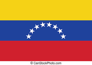 Vector illustration of the flag of Venezuela