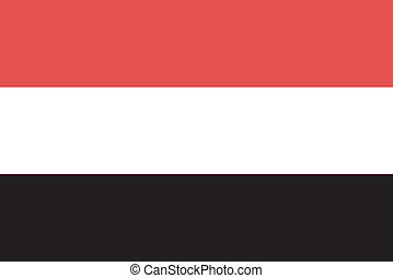 Vector illustration of the flag of Yemen