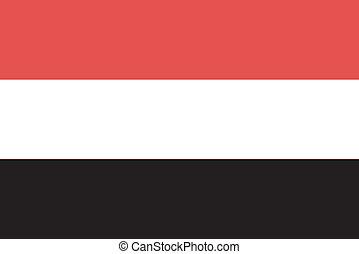 Vector illustration of the flag of Yemen