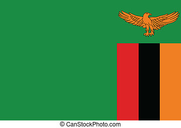 Vector illustration of the flag of Zambia