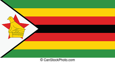 Vector illustration of the flag of Zimbabwe