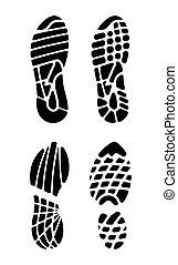 Vector illustration of the footprin