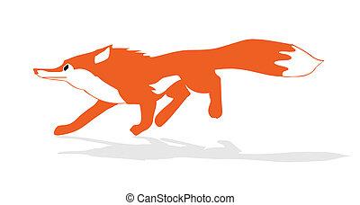vector illustration of the fox
