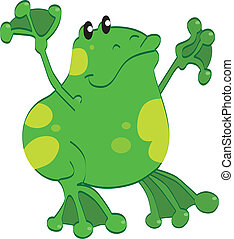 Vector illustration of the frog
