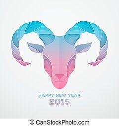 The goat is a symbol of 2015 - Vector illustration of The ...