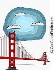 Vector Illustration of the Golden Gate Bridge