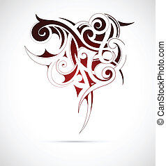 Gothic tribal art - Vector illustration of the Gothic tribal...