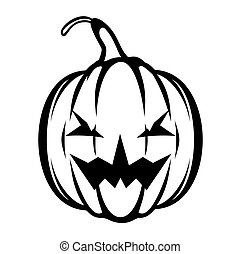 Halloween pumpkin vector icon