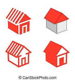 Vector illustration of the house