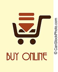 Online shopping - Vector illustration of the icon for Online...