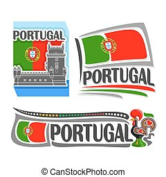 Portugal - Vector illustration of the logo for Portugal, ...