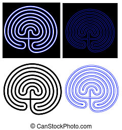 vector illustration of the maze - labyrinth