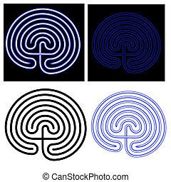 maze - labyrinth - vector illustration of the maze -...