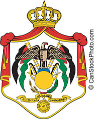 Vector illustration of the national coat of arms of Jordan
