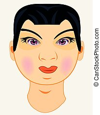 Vector illustration of the person men to asiatic appearance...