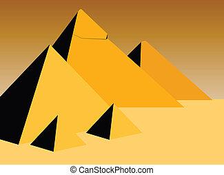 pyramids - vector illustration of the pyramids