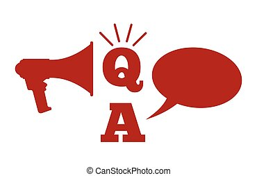 Q And A - Questions And Answers con - Vector illustration of...