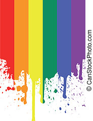 rainbow flag - vector illustration of the rainbow flag