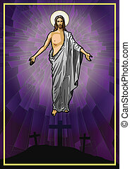 Jesus Christ - Vector illustration of the Resurrected Jesus...