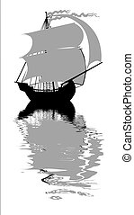 vector illustration of the sailfish