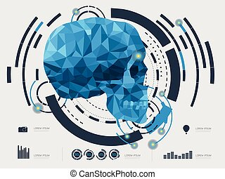 vector illustration of the skull