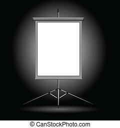 Vector illustration of the stand on a dark background