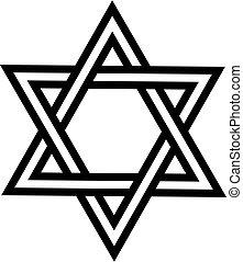 Vector illustration of the Star of David