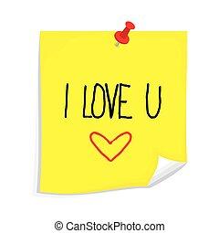 Sticky note I love you