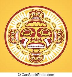 Vector illustration of the sun symbol.
